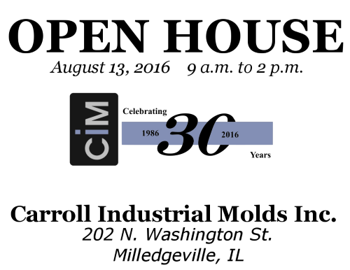 Carroll Industrial Molds INC. Celebrates 30th Anniversary with Open House